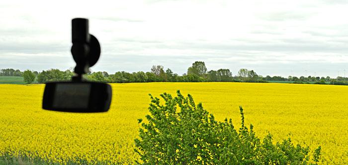 Autokamera mit Saugnapf für Zeitraffer-Video